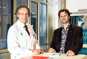 Thomas Pieber (JOANNEUM RESEARCH HEALTH) und Martin Ellmerer